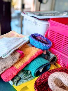 woollen pouches